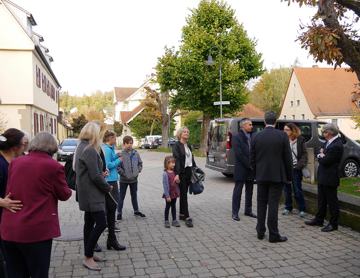 Nachfahren Empfang Rathaus Freudental