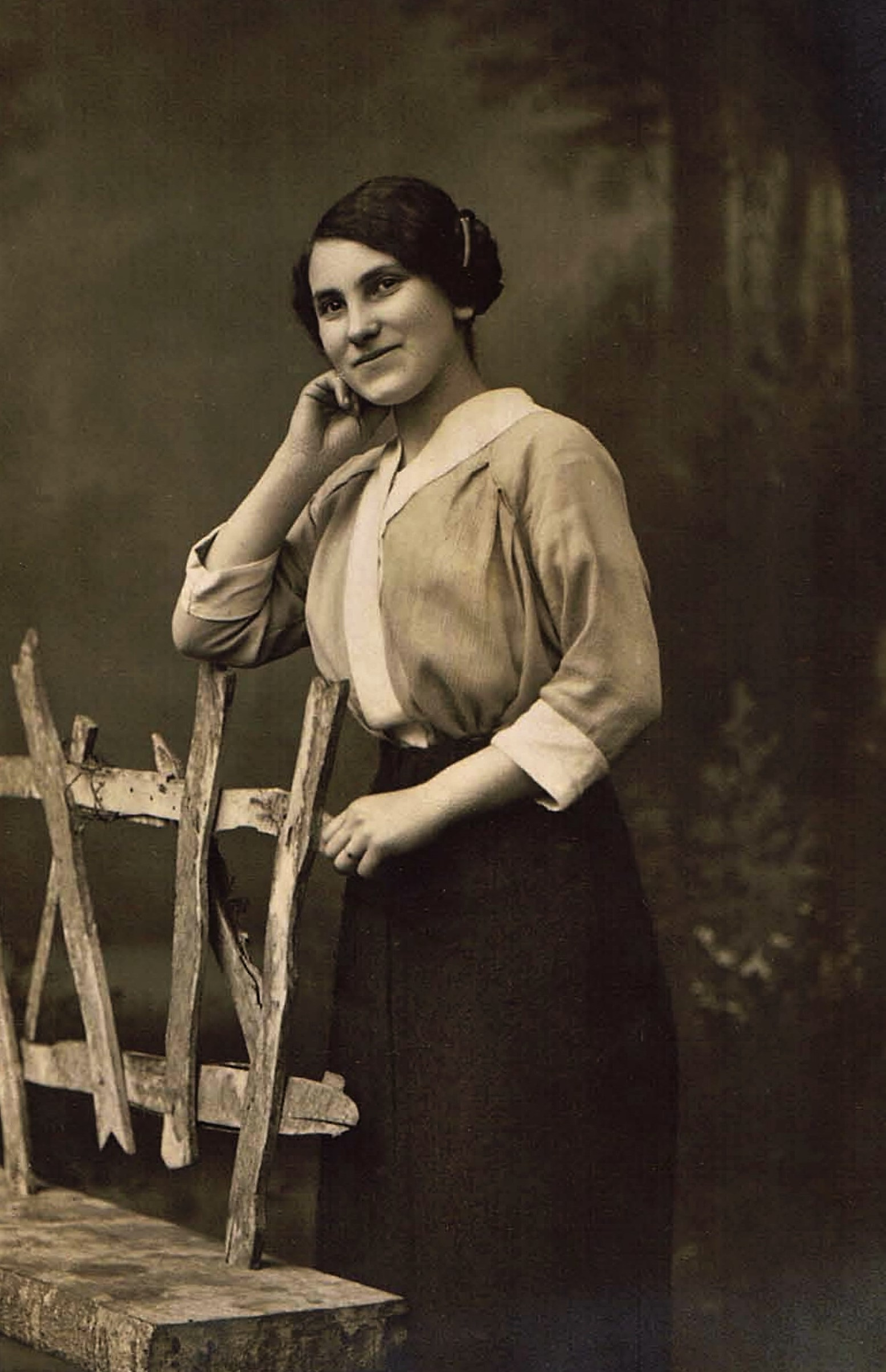 Nanette Barth in Flehingen, 1915