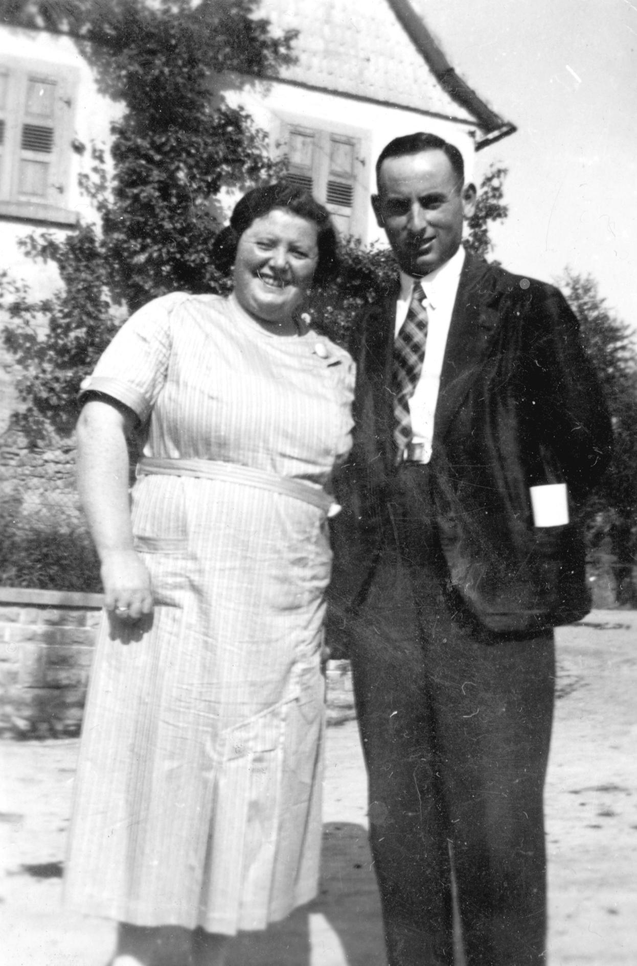Irwin und Erna Stein in Neidenstein.