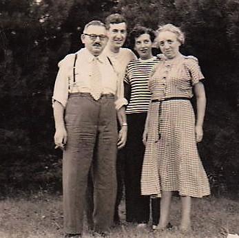 Familie Julius Jordan unten