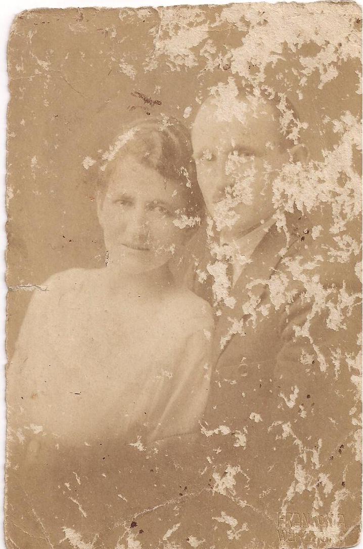 Moritz und Ida Blum zur Zeit ihrer Vermählung im Januar 1921...