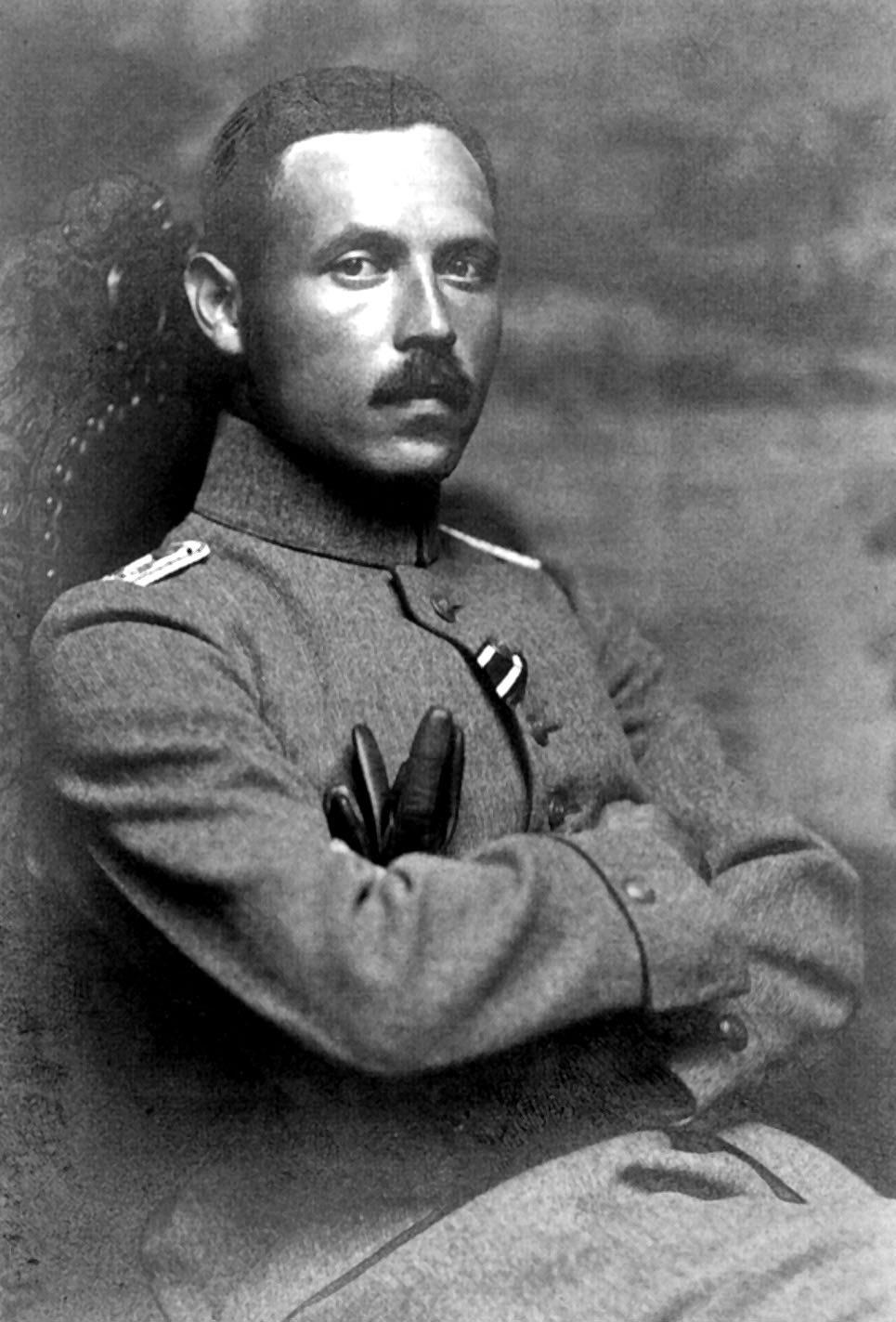 Leutnant Marx im Ersten Weltkrieg.