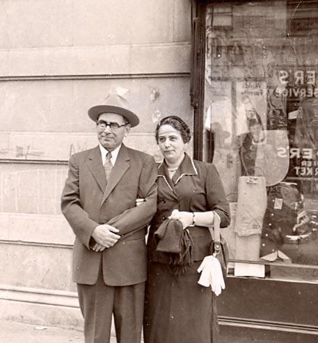 Ludwig und Tilly Stein in Manhattan.