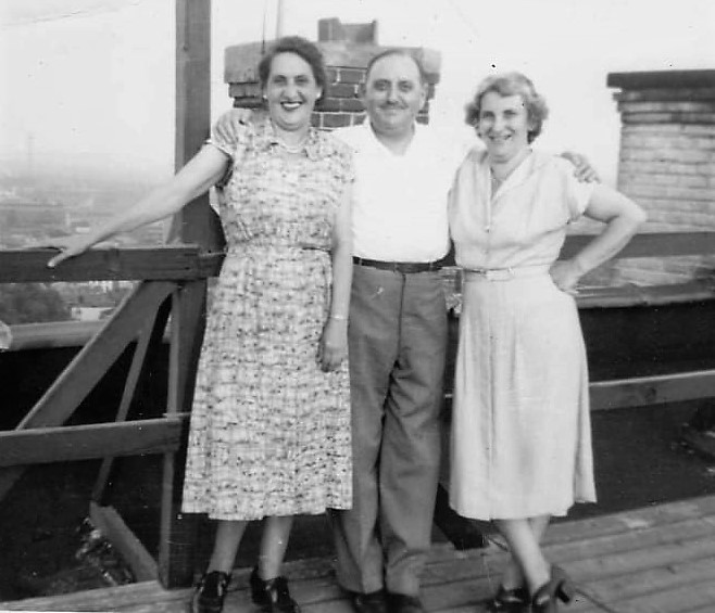 Mit Nanette und Irma Spatz.
